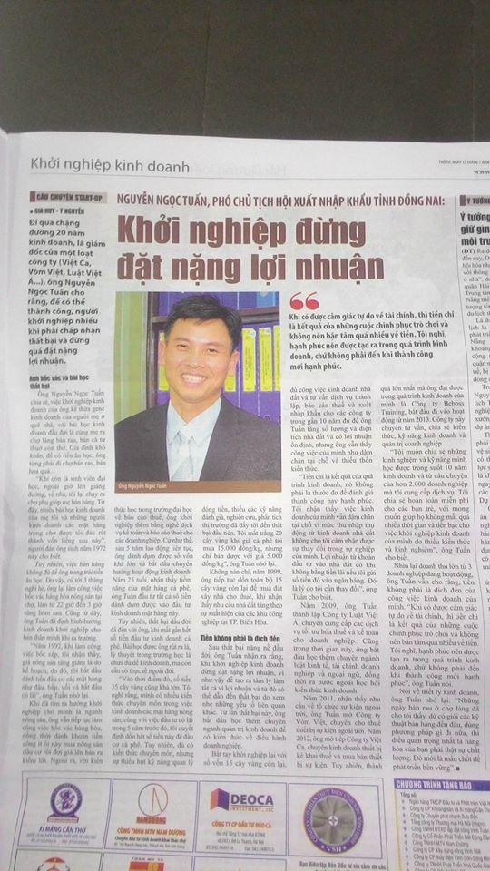 Ông Nguyễn Ngọc Tuấn: Phó Chủ tịch Hội xuất nhập khẩu tỉnh Đồng Nai