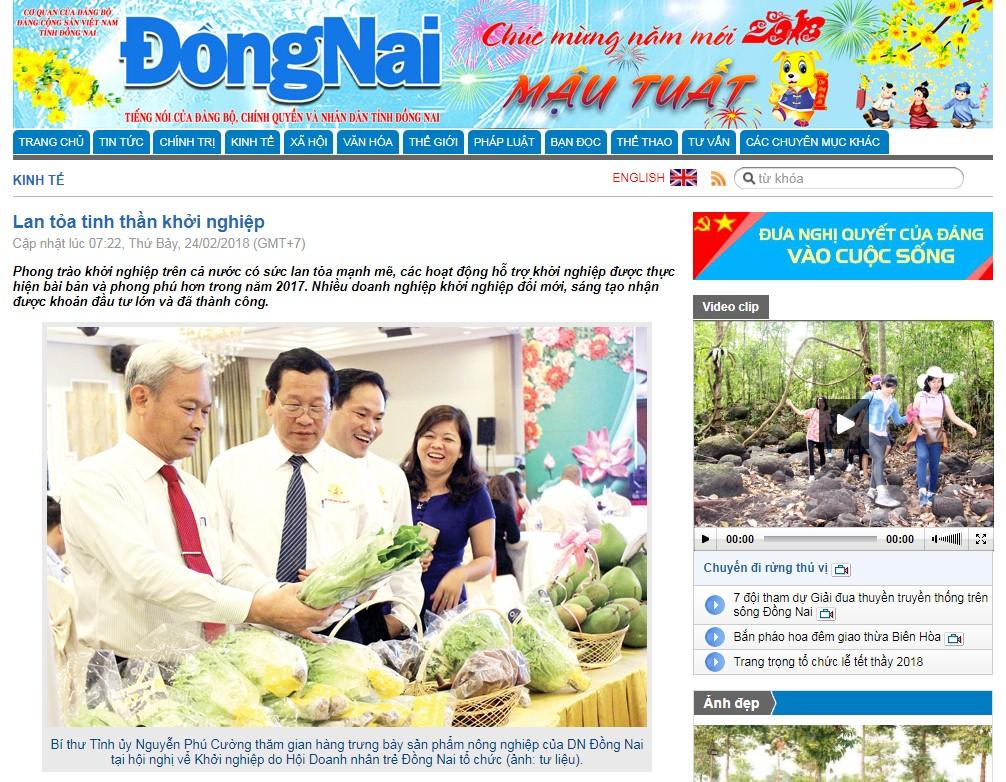 Lan tỏa tinh thần khởi nghiệp Báo Đồng Nai
